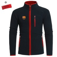 Jaket Hoodie Sport Hitam Barcelona