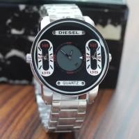 Jam Tangan Pria / Cowok Murah Diesel SK213 Rantai Silver Black