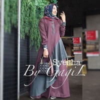 Terbaru Syesha dress by gagil/gamis balotelli/murah/gamis/muslim