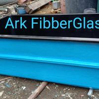 Bak fiber Glass 200x100x70 Skat luar besi bukan kayu