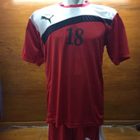 Kaos baju sepak bola futsal setelan puma 1 set