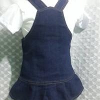 BAJU WANITA MURAH DRESS Baby jumper dino jeans bayi lucu dress with