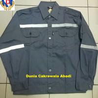 Baju Kerja Safety / Baju Proyek / Seragam Safety / Twins Warna Abu