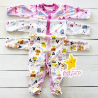 PROMO Baju Bayi Tutup Kaki Jumpsuit Bayi Libby Baby Sleepsuit Bayi