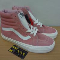Sepatu Vans SK8 Hi Slim Retro Sport Blossom True White Pink Women