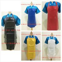 apron pvc anti basah - Putih