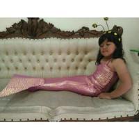 costum mermaid sisik putri ikan duyung anak baju renang mainan