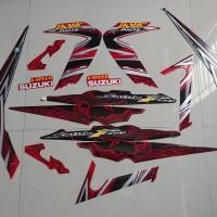 Stiker Bodi & Lis Body & Striping Satria Fu 2011 Merah Hitam