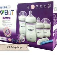 Avent Natural 2.0 Newborn Starter Set Kado Bayi set botol susu sikat