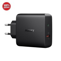 Aukey USB-C Dual Port Wall Charger with PD 2.0 and QC 3.0 (PA-Y11)