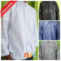 Terbaru! Baju Koko Pria Muslim Dewasa Tangan Panjang Polos - Warna