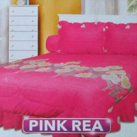 New Bad Cover My Love Motif Pink Rea Size King No.1 uk 180cmX200cm