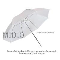 Payung Putih Studio Foto Ukuran Diamter 80cm