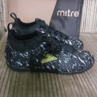 Sepatu Futsal Mitre Command In Black City Green Original