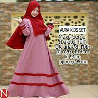 Aura Kids gamis anak baju lebaran,baju ngaji,baju muslimanak perempuan