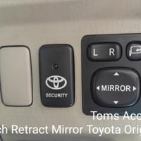 Switch Electric Mirror Auto Retract Toyota Daihatsu Spion Lipat Univer