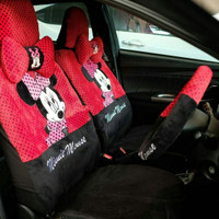 Set Sarung Jok Mobil Mickey Minnie Mouse 18 in 1