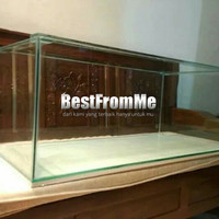 Aquarium akuarium custom ukuran 100x50x50 cm 100 x 50 x 50 kaca 8 mm