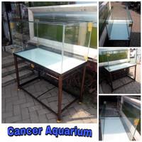 Aquarium Kaca 100x50x50 Full 8mm & Rak Besinya