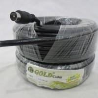 Kabel Antena Antene TV 5C+Jek GOLD Panjang 17 Meter