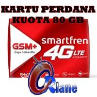 kartu perdana internet Smartfren 80gb kuota data 13gb 19gb 3 60 gb