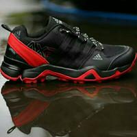 SEPATU CASUAL.SPORT ADIDAS AX2 BLACK OFF RED IMPORT