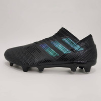 Sepatu Bola Premium Adidas Nemesiz 17+ Size 40 - 45 Black Metalic