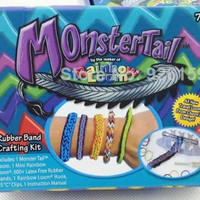 Monster tail rainbow loom band warna, color colour colorful