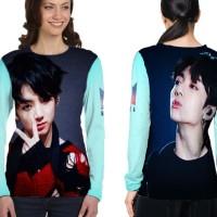 Kaos Baju Tshirt Lengan Panjang Custom K-Pop BTS Jungkook 14