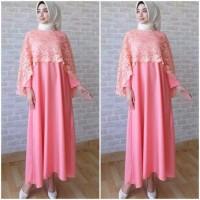 AF Maxi dress Brukat /Gamis Brukat /Baju Muslim Cape brukat Bela