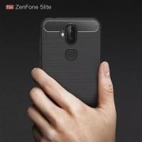 Case Asus Zenfone 5Q/ 5 Lite Softcase Black Slim Carbon Armor Silicon