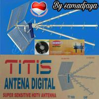Antena tv titis tt1000 kabel rg6 18 meter dan Bracket tv 14-37 inchi