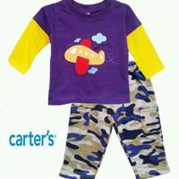 Baju Bayi Anak Carter Setelan Lengan Panjang Pesawat