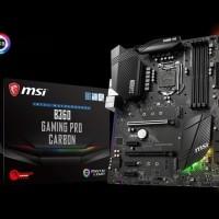 MSI B360 GAMING PRO CARBON (B360, LGA 1151, DDR4) Support Coffelake