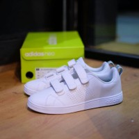Sepatu Adidas Neo Advantage Clean Velcro Original BNIB White Green