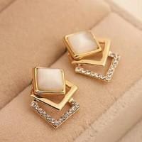 anting mutiara korea elegan women pearl fashion earrings jan116
