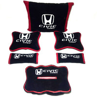 Honda Civic Turbo Bantal aksesoris mobil Hitam list merah