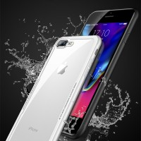 iPhone 6/6s/7/8 Plus/X Cafele Case TPU + Tempered Glass Back Cover