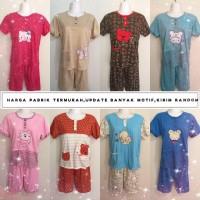 Baju Tidur Kaos bordir/Baby doll/Piyama/Stelan Dewasa 3/4