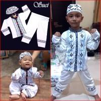 Baju Koko Anak PUTIH Pakaian Muslim Anak Suci MARUNO - 6bl