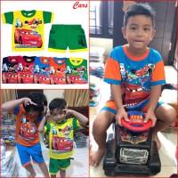 Baju Anak Mobil Balap CARS Mcqueen Setelan Pakaian Murah Keren MARUNO