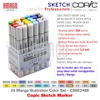 COPIC SKETCH - 24 MANGA ILLUSTRATION COLOR SET - CSM/24MI
