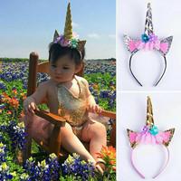 bandana unicorn bando unicorn bayi anak headband aksesories