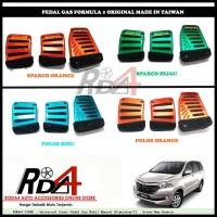 Universal Cover Pedal Gas Mobil Manual Aluminium F1   Grand New Avanza