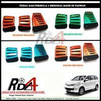 Universal Cover Pedal Gas Mobil Manual Aluminium F1   All New Avanza