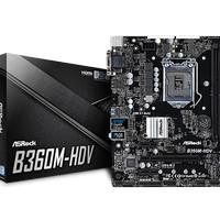 AsRock B360M-HDV (B360, LGA 1151, DDR4) Support Coffelake