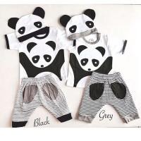 Hello Panda Suit / Baju Bayi / Baju Anak / Setelan Bayi