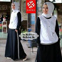 Setelan baju sporty wanita / Rok/ Atasan lucu / Grosir hijab : Gea Set