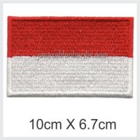 Emblem Badge Bordir Bendera Indonesia 10cm X 6.7cm