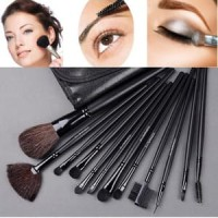 MAKE UP BRUSH SET ISI 12 PCS  /  DOMPET KUAS MAKE UP  MAKEUP